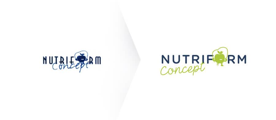 Logo nutriform concept