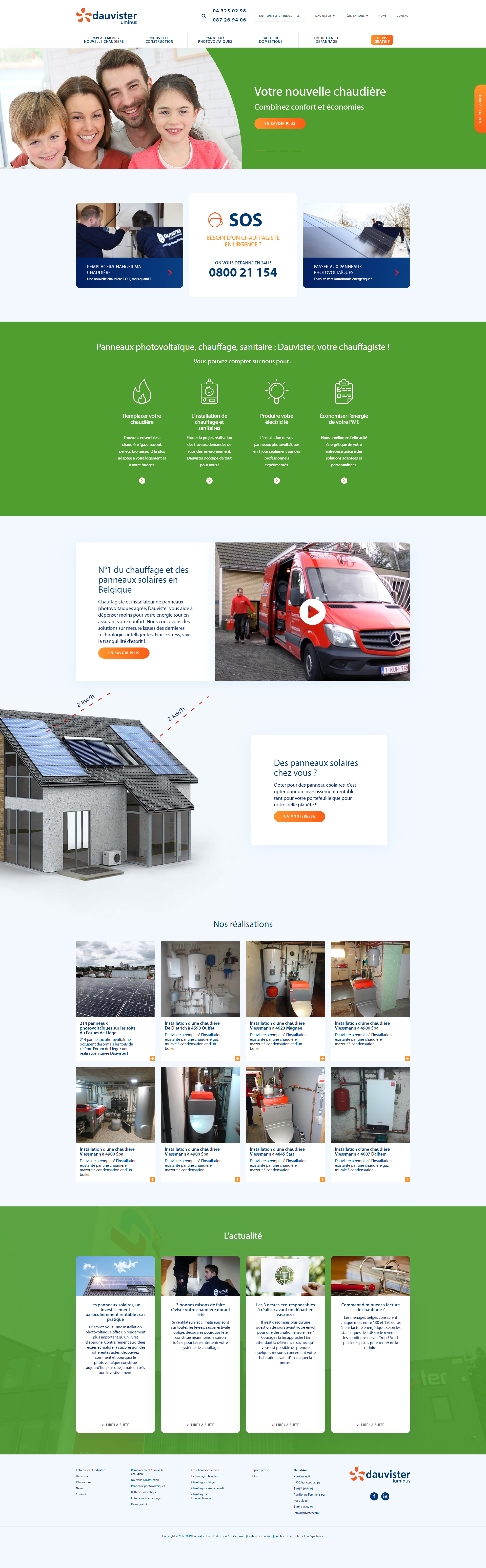 Site web Dauvister Luminus